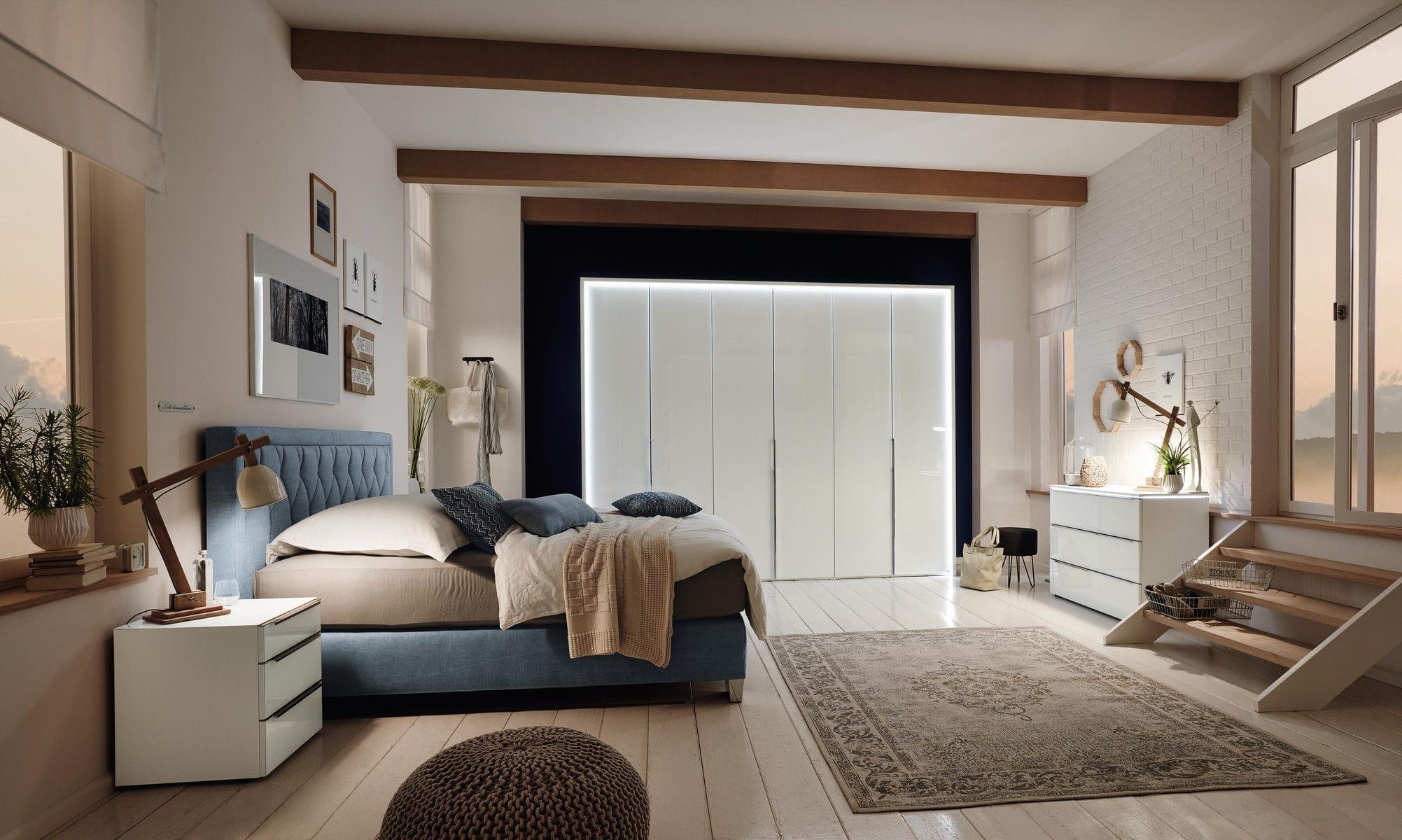 Doppelbett Modern Polster Stoff Indio Musterring