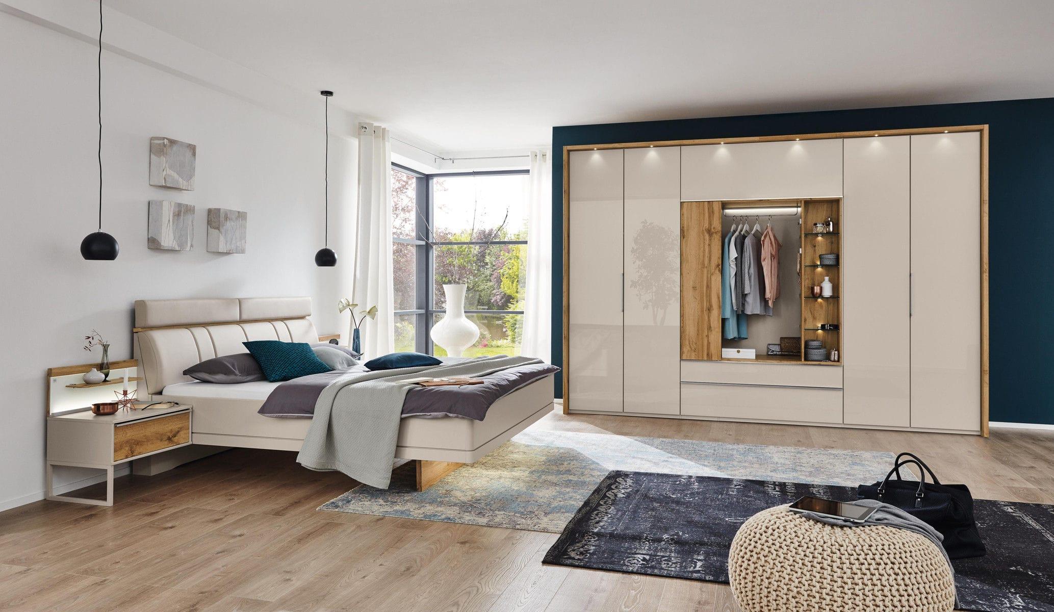 Moderner Kleiderschrank / lackiertes Holz / Falttüren / mit Spiegel ...