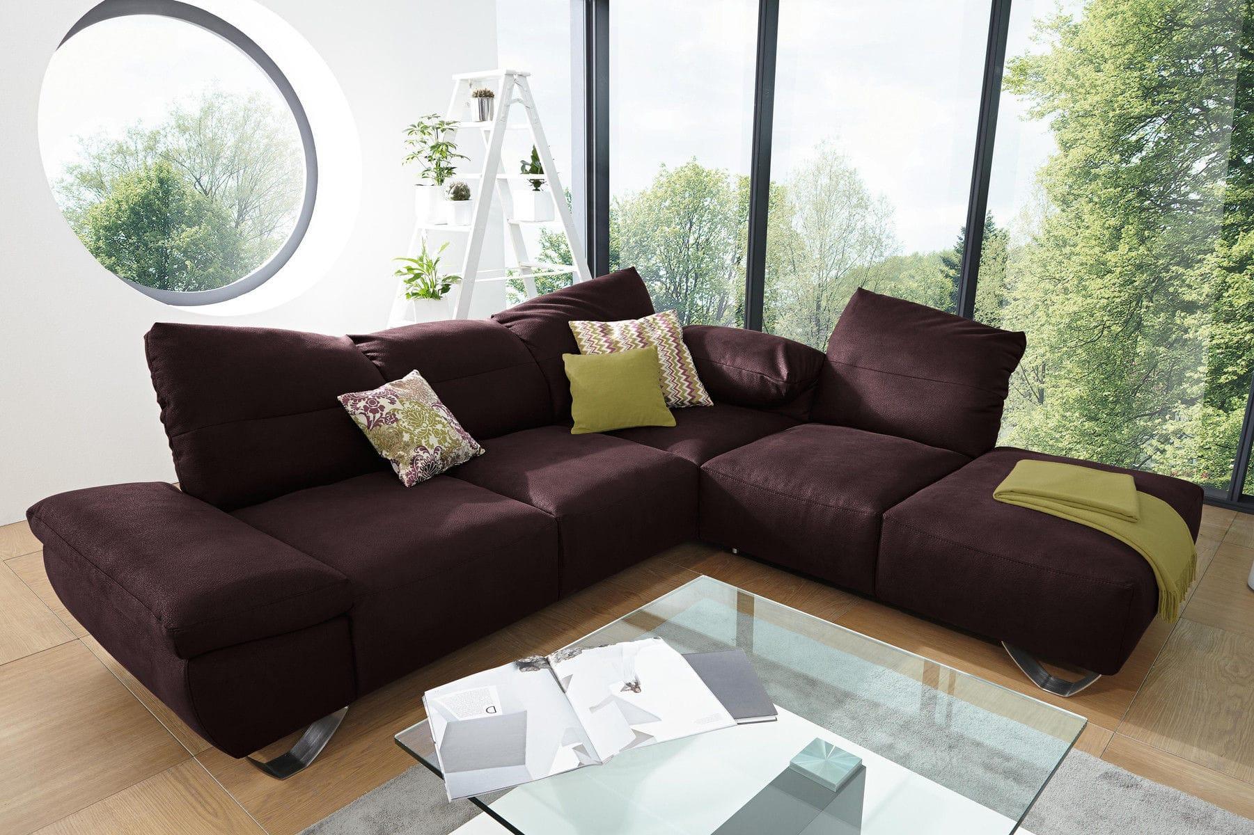 Modulierbares Sofa Modern Leder Mit Neigbarer Rückenlehne Mr