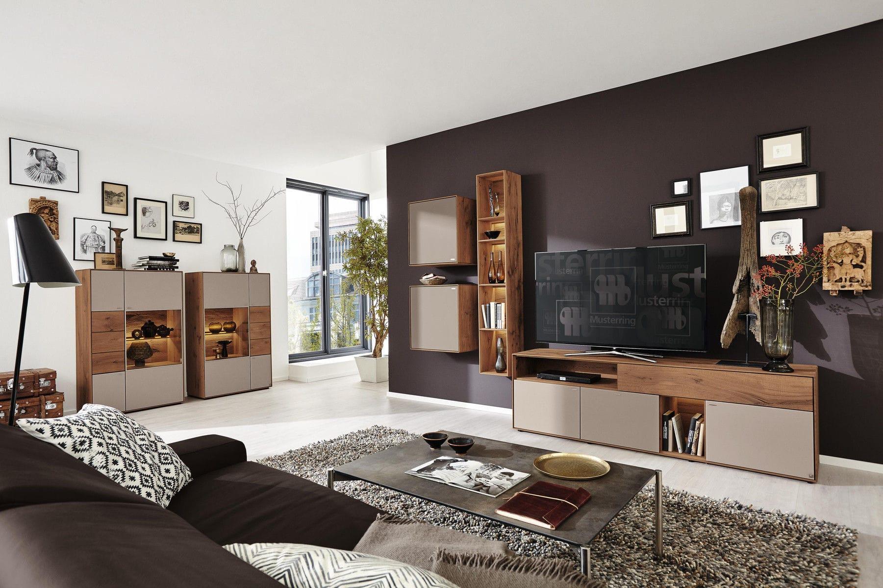 Hohes Sideboard Modern Aus Eiche Glas Toledo Musterring