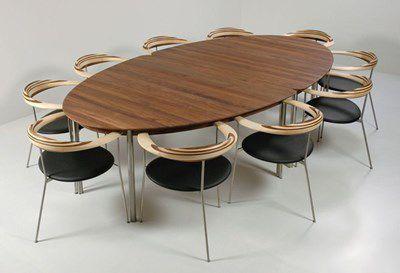 ... Moderner Tisch / Holz / Oval NAUTILUS By Indigo Snedkergaarden Them A/S