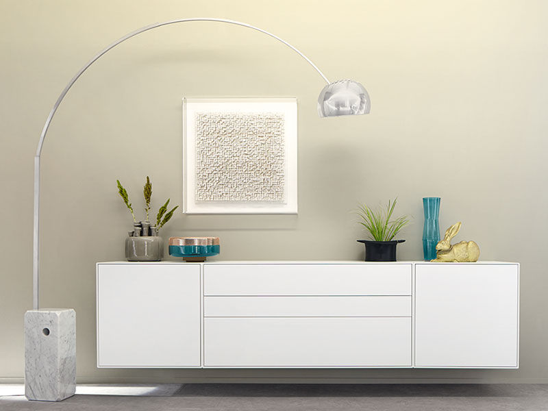 Wandmontiertes Sideboard / modern / lackiertes Holz - NOW! EASY ...