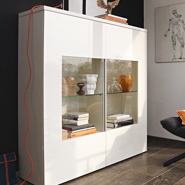 Moderne Vitrine Lackiertes Holz Glas Now Time 980014 Now