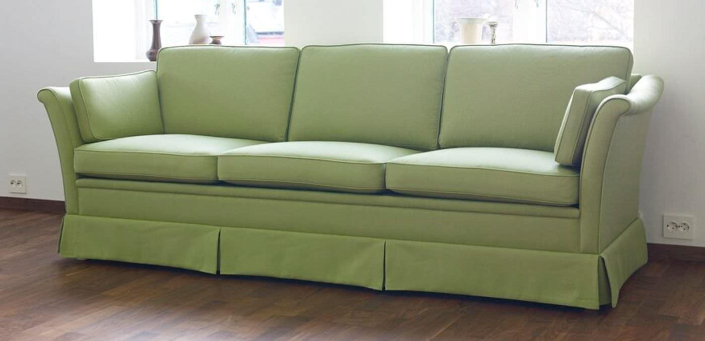 Klassisches Sofa klassisches sofa stoff 3 plätze mit abnehmbaren bezug