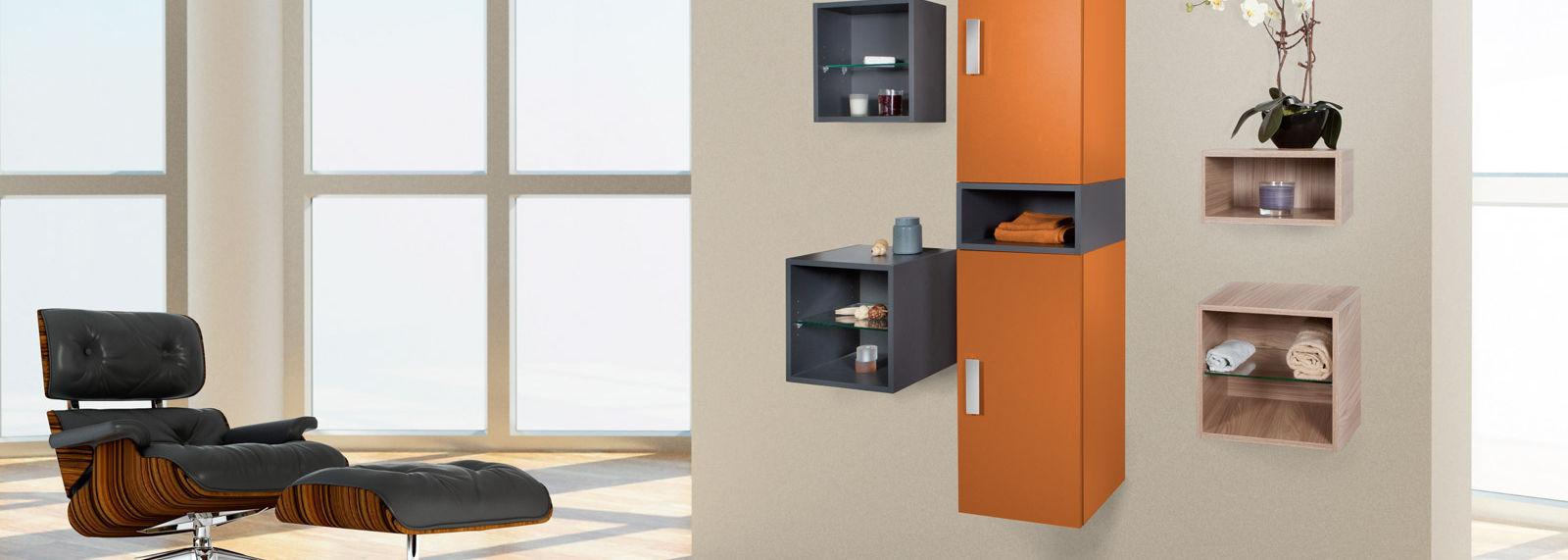 Wandmontiertes Regal / modern / Holz / für Badezimmer - FLEXI - FRAMO