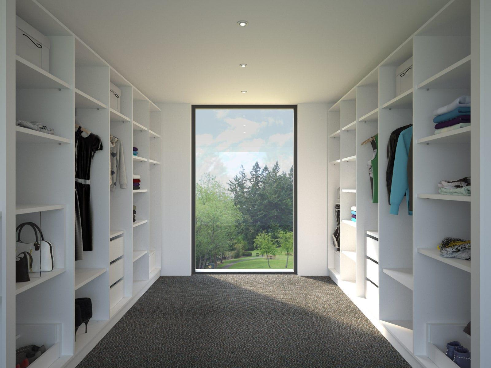 Begehbarer kleiderschrank modern  Begehbarer -Kleiderschrank / Eck / modern / Holz - FRAMO