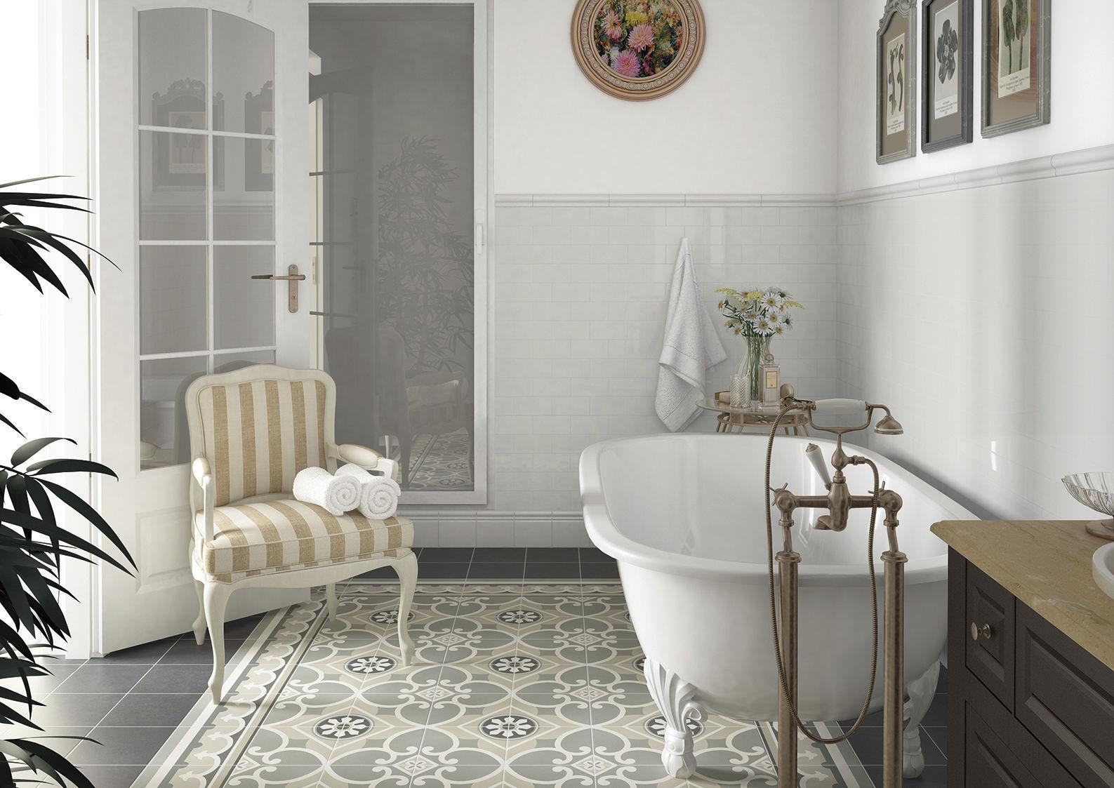 Fliesen Für Badezimmer / Boden / Aus Zement / Jugendstil   Caprice