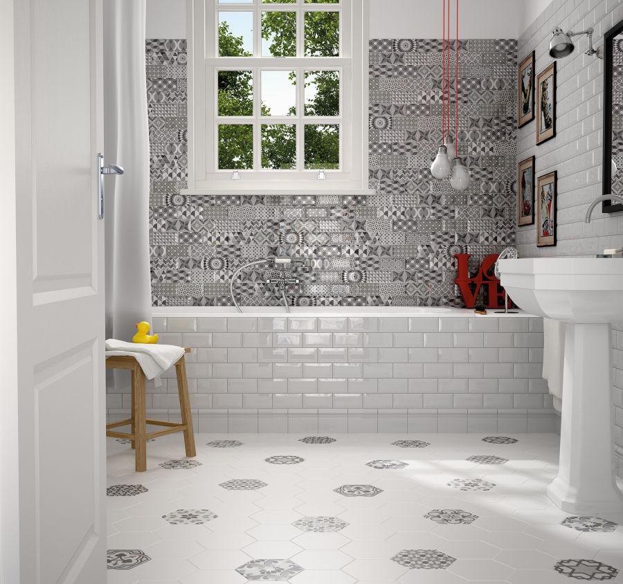 Fliesen Für Badezimmer / Bodenstehend / Aus Keramik / Matt - Metro ... Badezimmer Fliesen Matt
