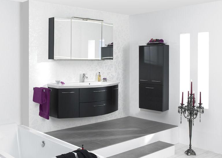 Hängend-Waschtischunterschrank / Holz / modern / mit Lichtspiegel ... | {Waschtischunterschrank holz hängend 120 62}