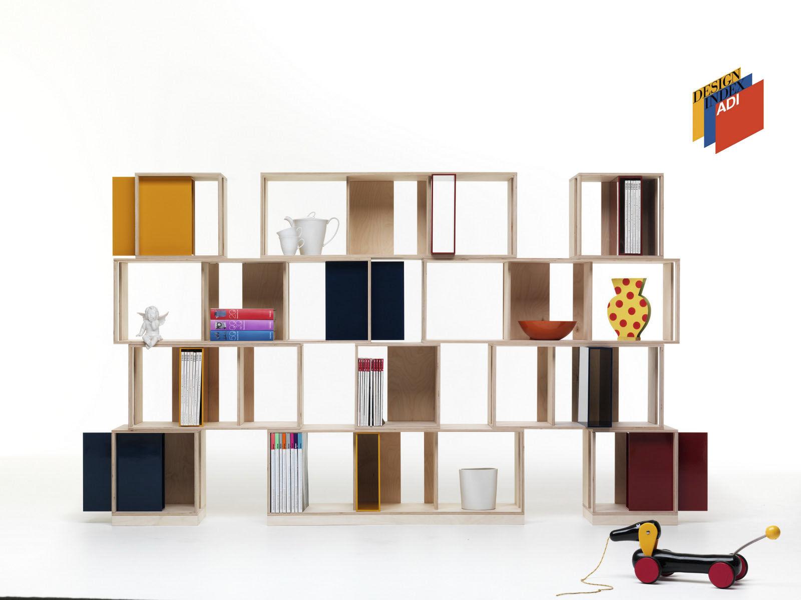 Elegant Modulregal / Modern / Holz / Wohnzimmer   TWIN BOX By Nicola De Ponti
