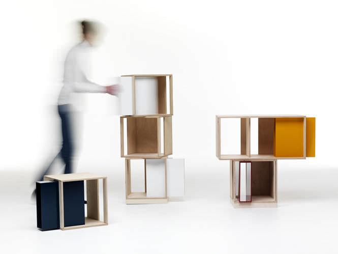 modul regal / modern / holz / wohnzimmer - twin box by nicola de ... - Wohnzimmer Regal Modern
