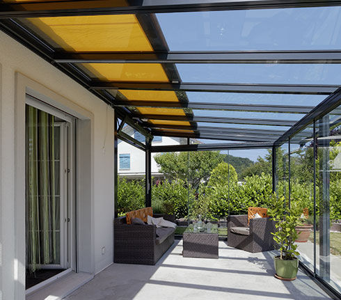 Vordach Fur Terrassen Glas Aluminium Td 1 Schenker Stores