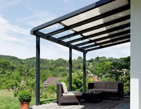 Vordach Fur Terrassen Glas Aluminium Td 2 Schenker Stores