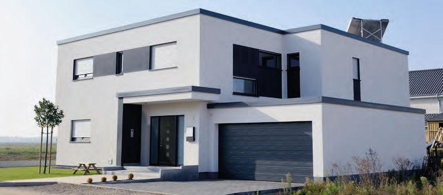 Eingangstür / einflügelig / Holz - DESIGN : 129 - Unilux
