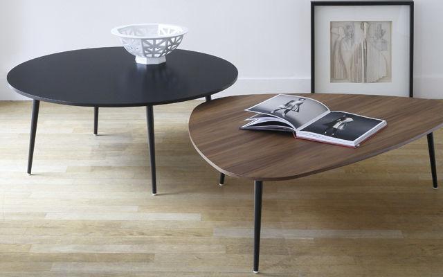 Couchtisch Oval Schwarz ~ Moderner couchtisch nussbaum aus mdf metall soho coedition