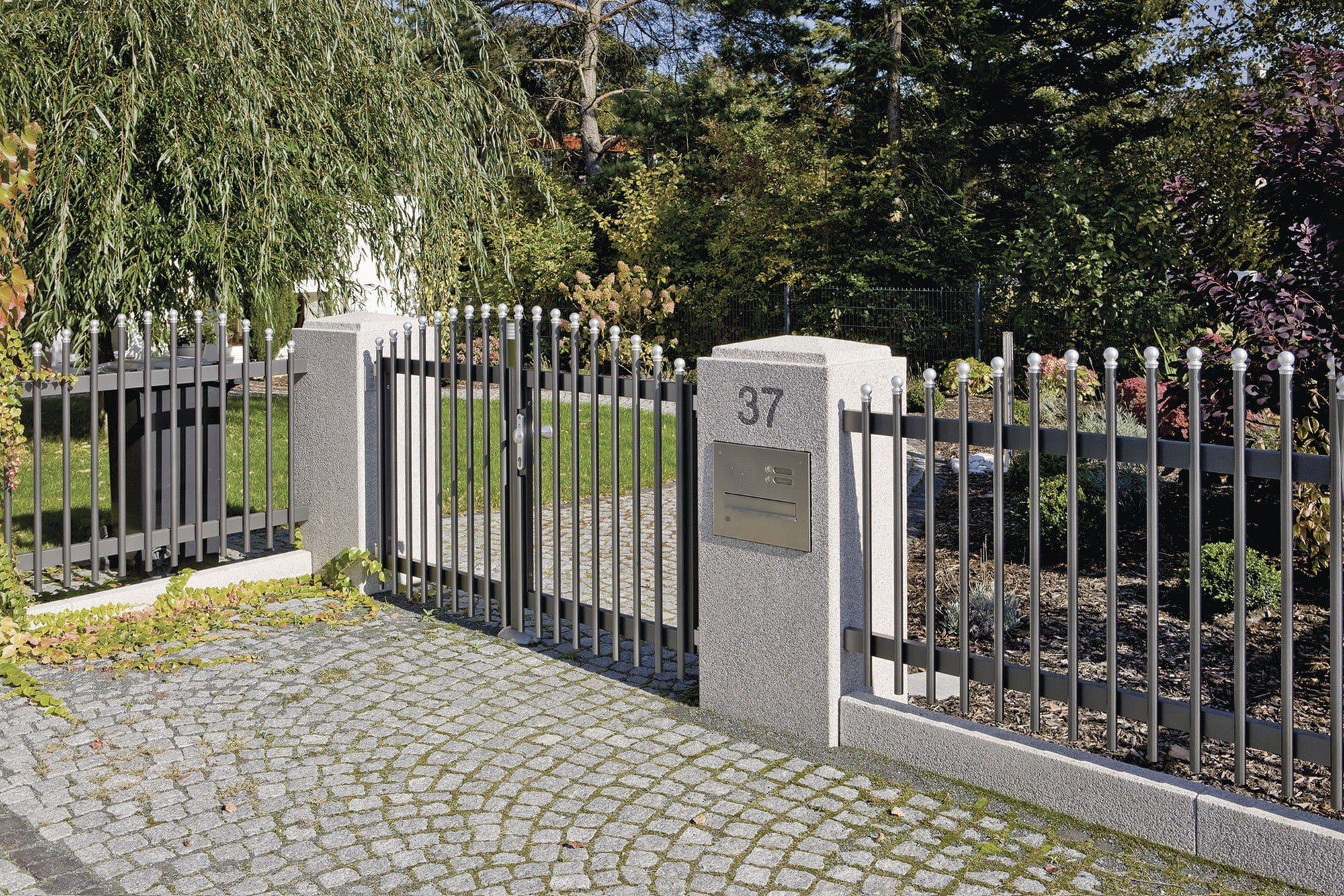 Zaunpfosten Rinn Beton Und Naturstein