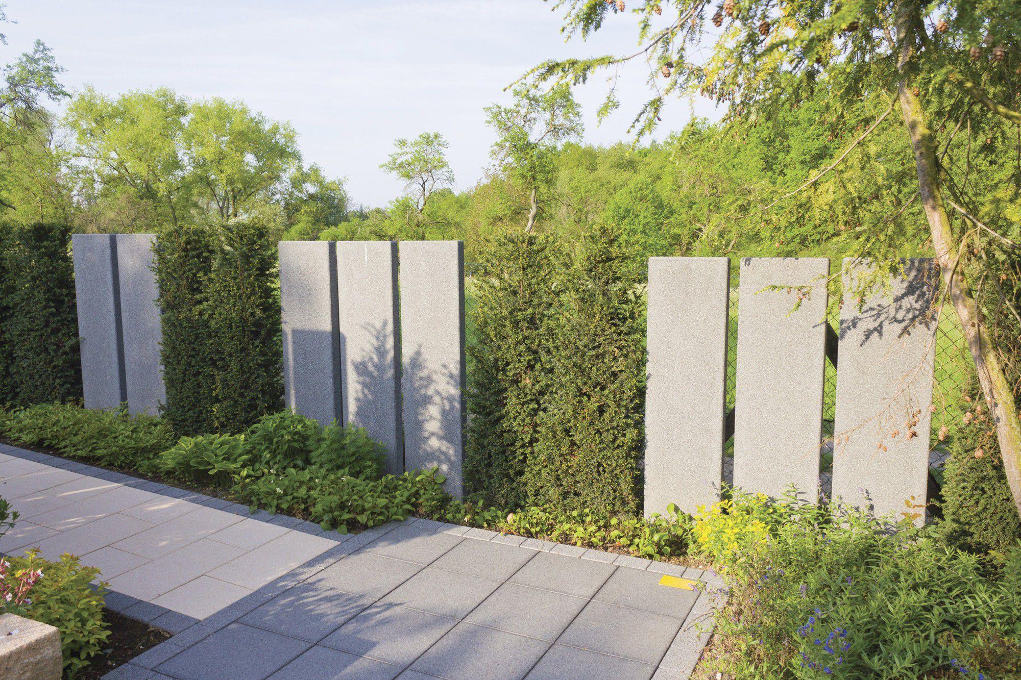 Gartenzaun / Platten / Aus Beton - Steles - Rinn Beton- Und ... Gartenzaun Sichtschutz Naturstein