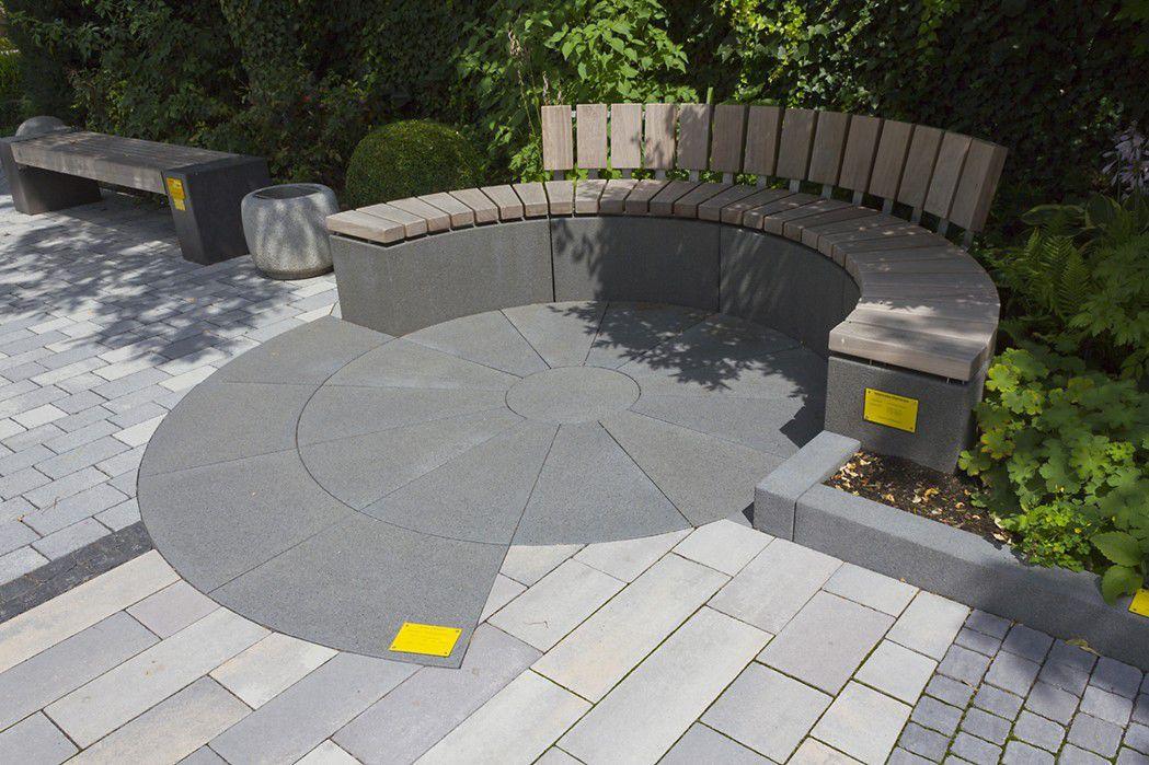 Gartenbank modern beton  Bank für den Garten / modern / Holz / Edelstahl - RINNIT PLATINUM ...