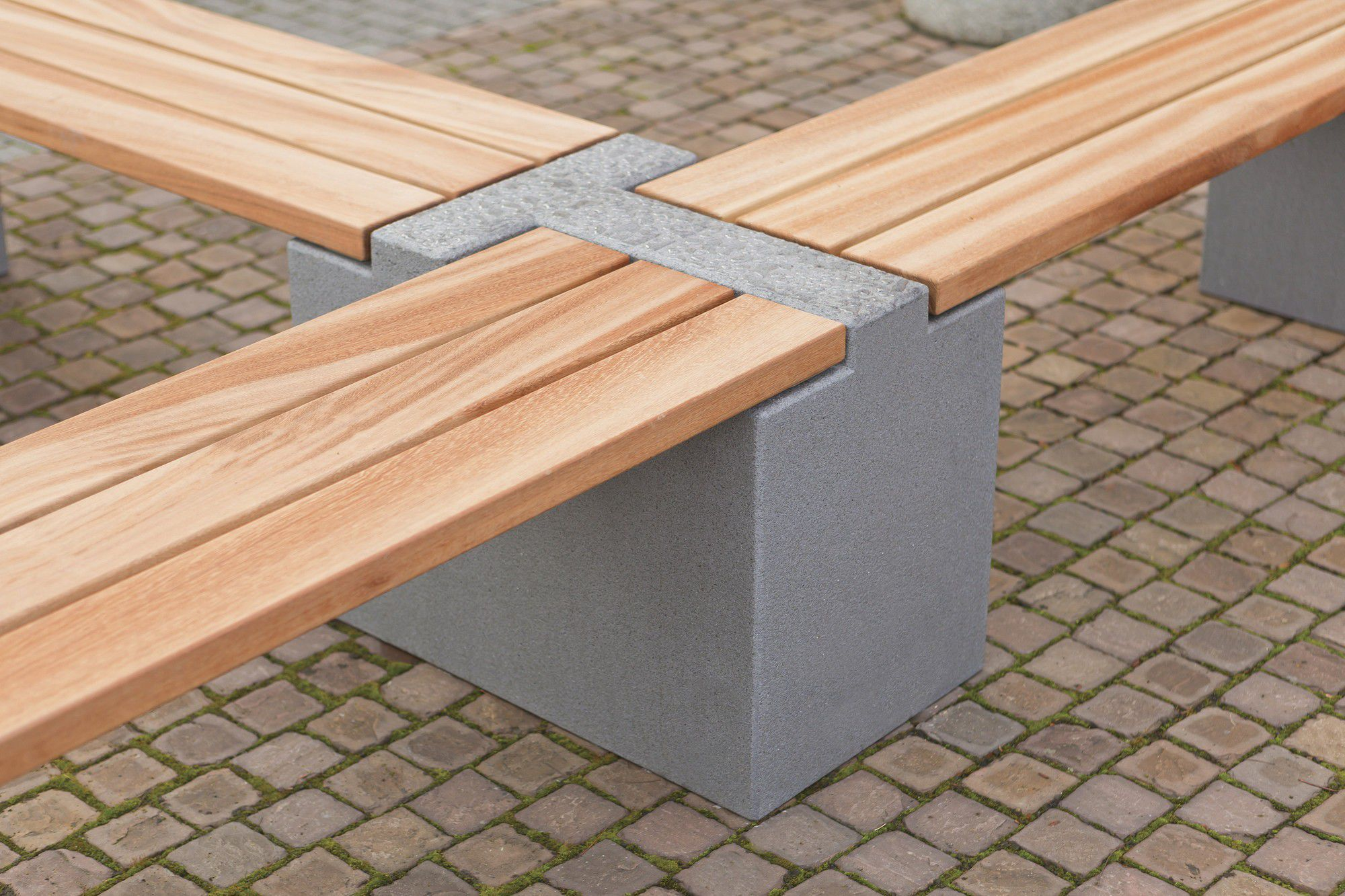 Gartenbank modern beton  Bank für den Garten / modern / Holz / Stein - TRIC - Rinn Beton ...