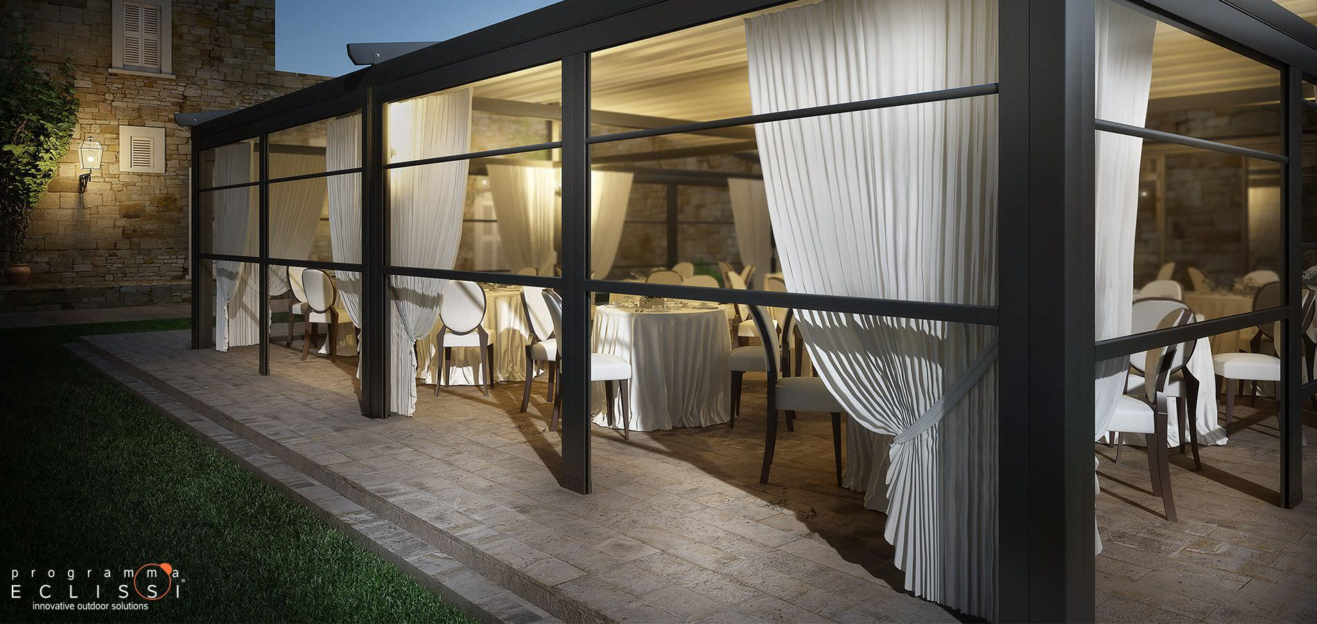 Glas Paravent Gewerbe Terrassen SOLAR DIRELLO S R L