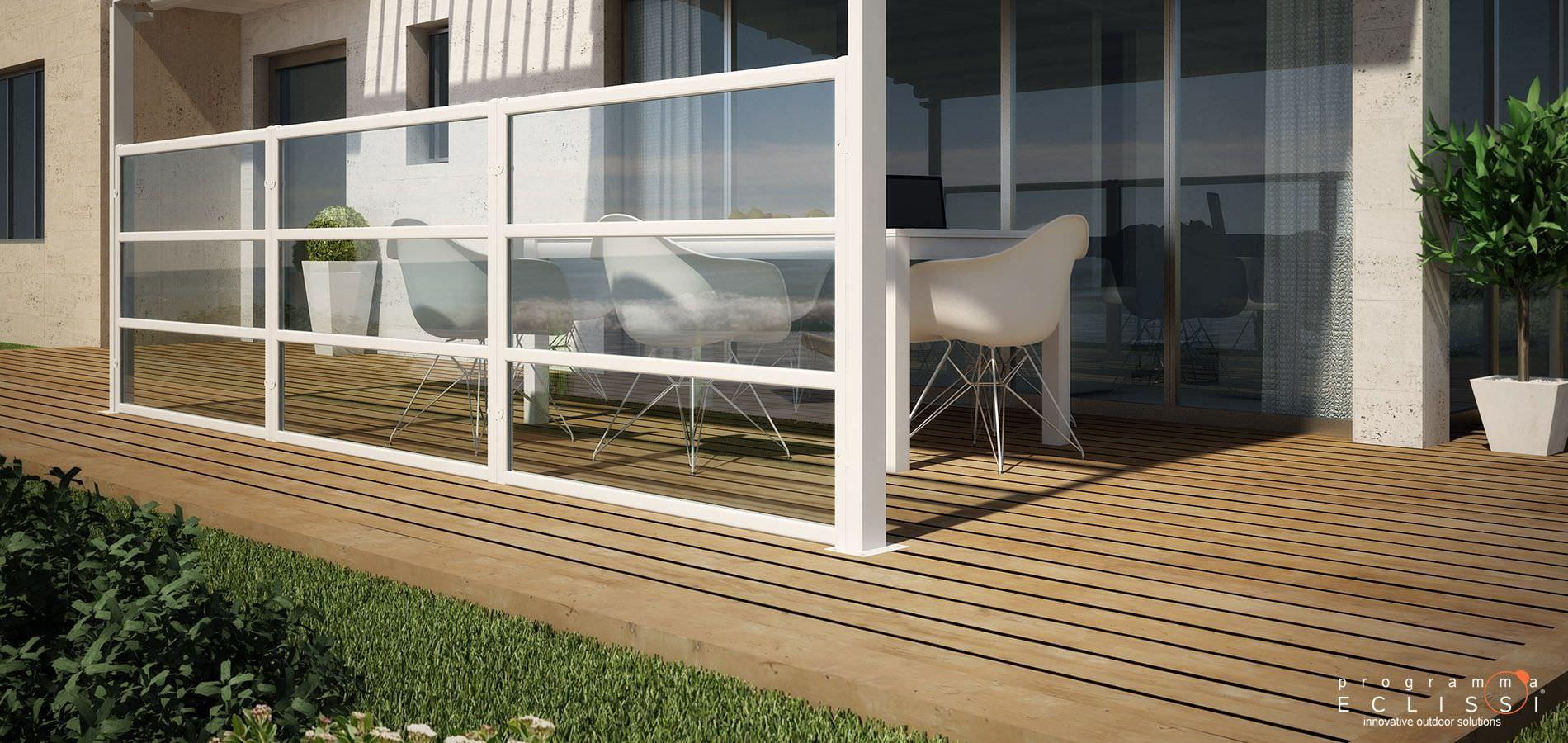 Moderner Paravent Glas Gewerbe Terrassen GHIBLI DIRELLO
