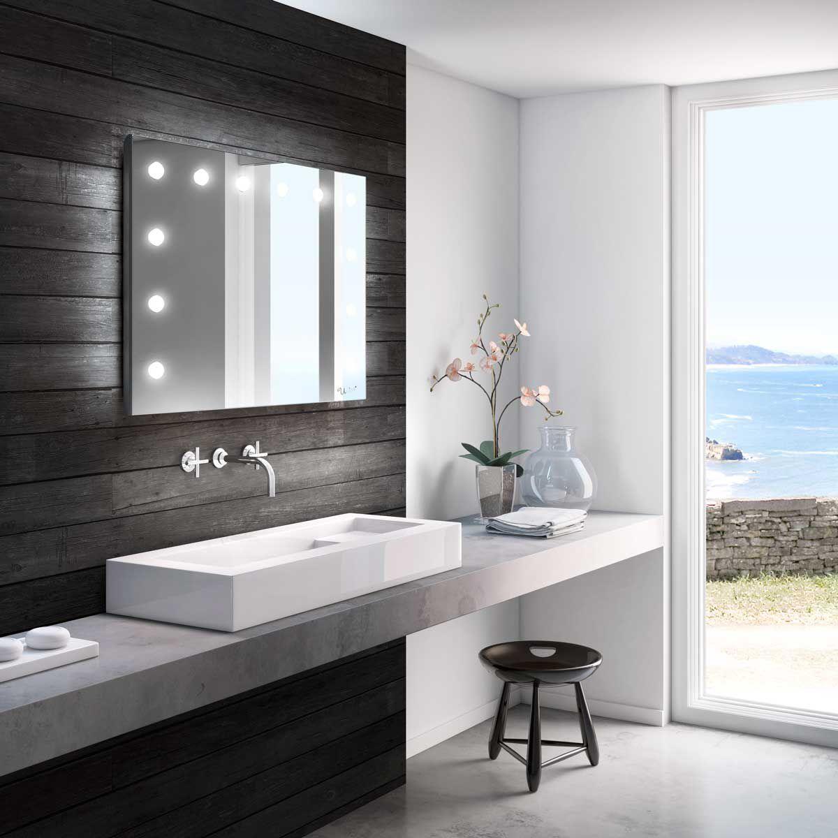 Wandmontierter Spiegel Für Badezimmer / Beleuchtet / Schlafzimmer / Mit  Aufhängung   MH01 DIVINO