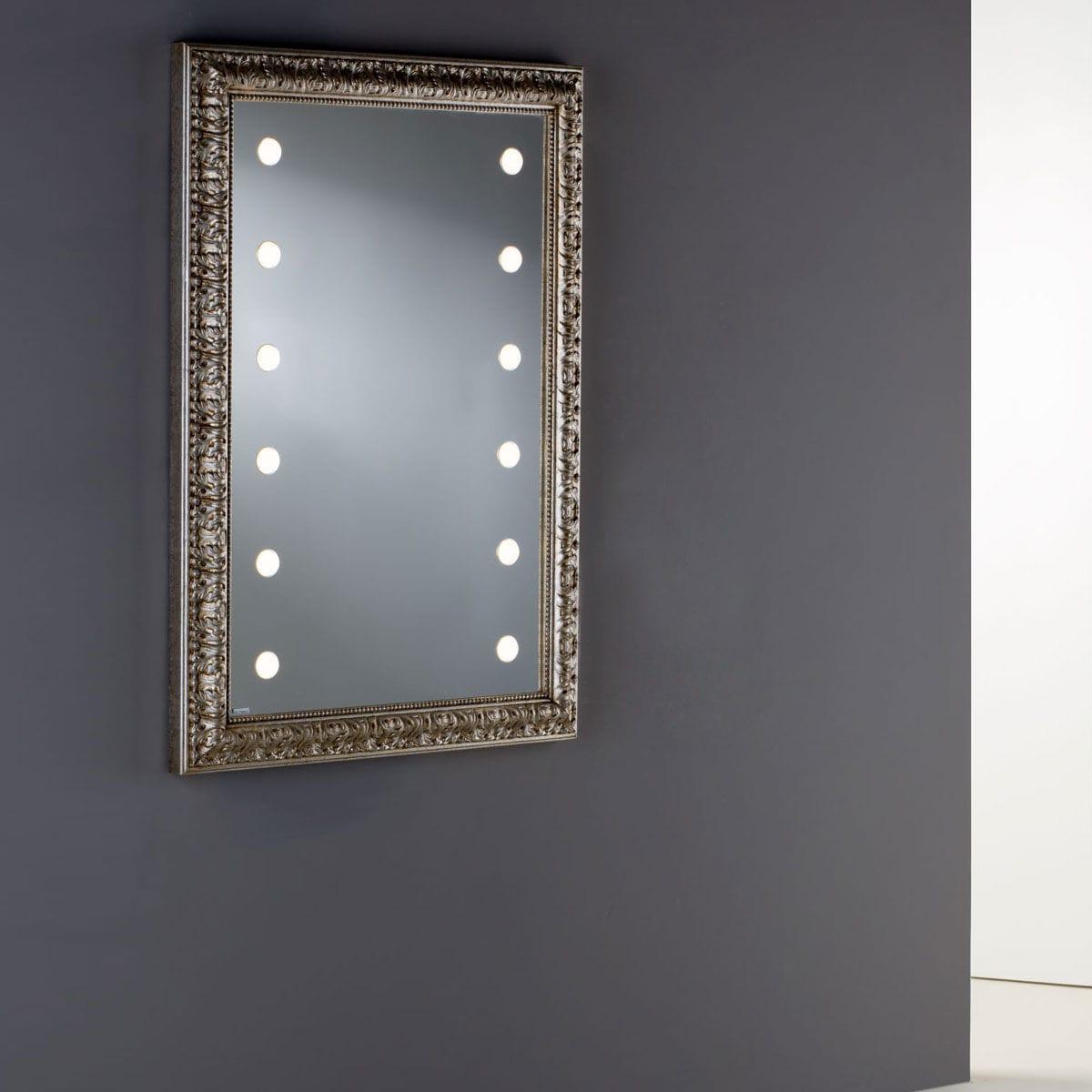 Wandmontierter Spiegel Für Badezimmer / LED Beleuchtet / Modern /  Rechteckig   MF 193