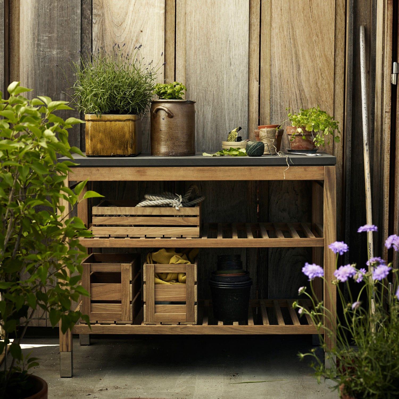 Modernes Regal Aus Teakholz Für Den Garten Pantry Module By