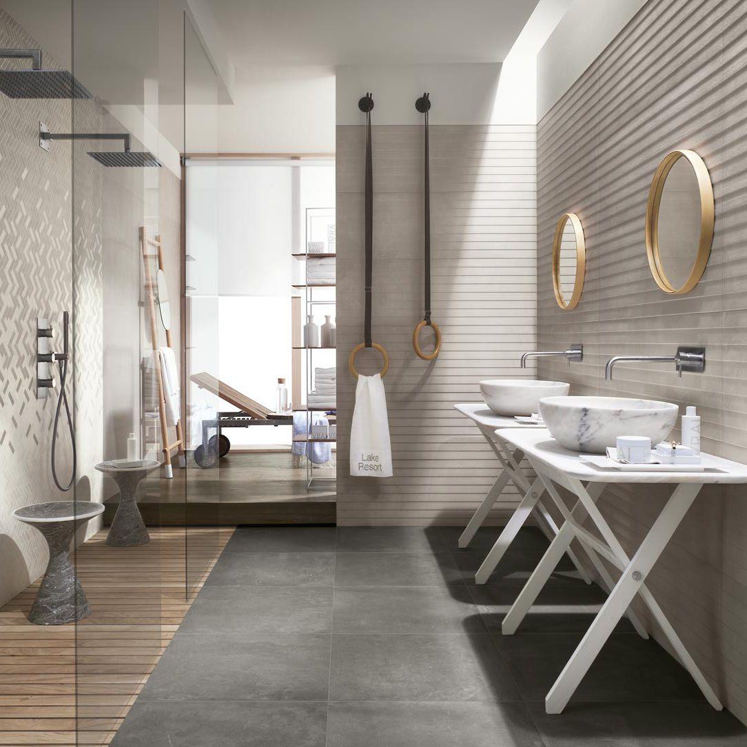 Fliesen für Badezimmer / für Wände / Feinsteinzeug / Motiv ...