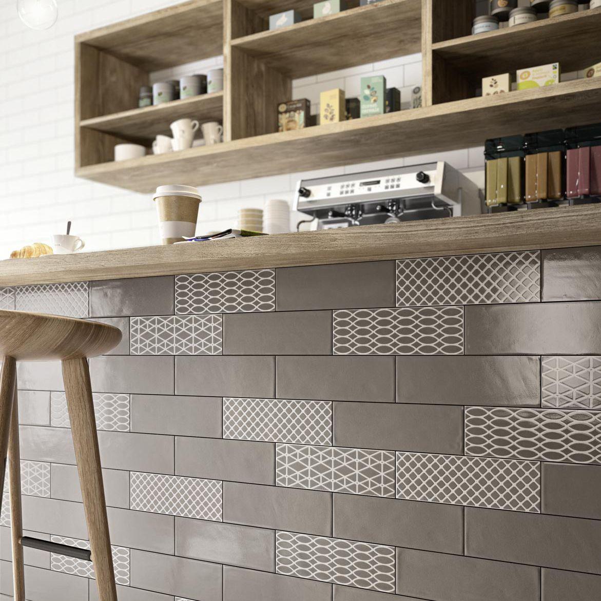 Fliesen für Badezimmer / Küchen / für Wände / Keramik - BRICK GLOSSY ...
