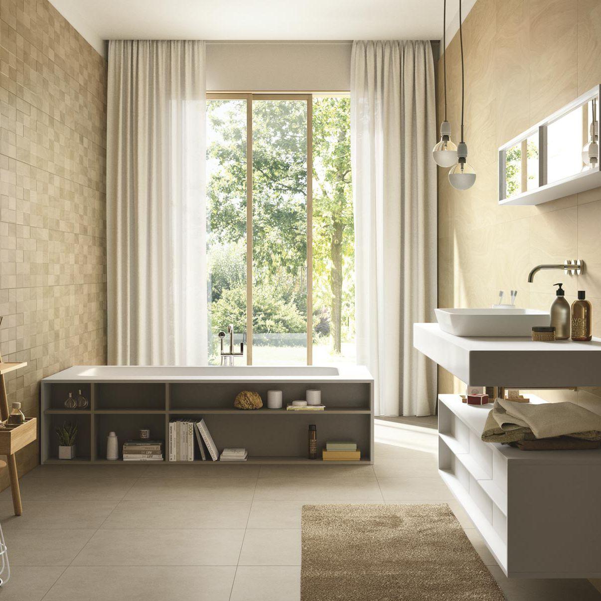 Fliese für badezimmer / wandmontiert / aus keramik / poliert ...