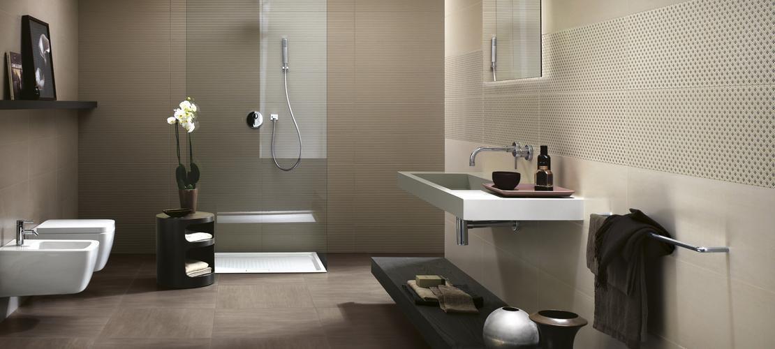 Badezimmer-Fliesen / Für Wände / Keramik / Samtaspekt - Trend