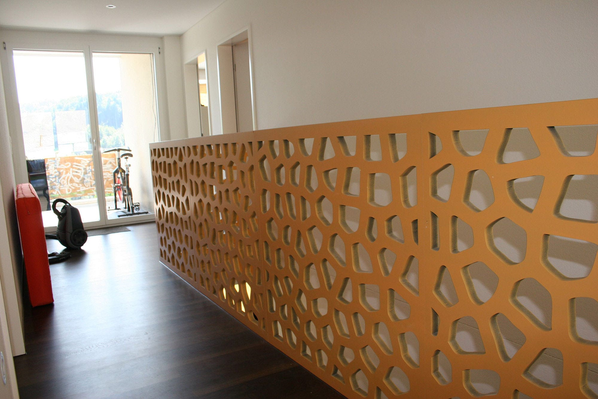 geländer für innenbereich / holz / platten / für treppen - private, Moderne