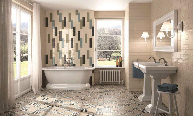 Innen-Fliesen / Badezimmer / Für Böden / Keramik - Belle Époque