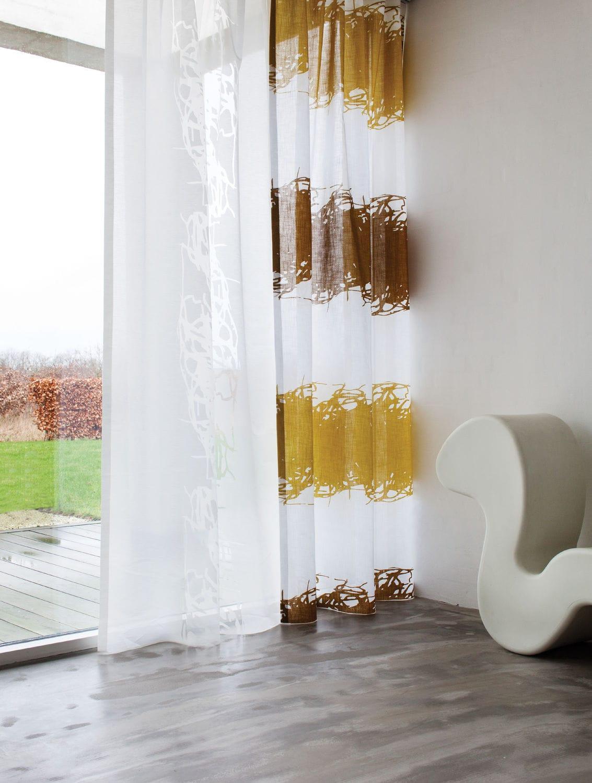 Stoff für Gardinen / Streifenmuster / Baumwolle / Polyester