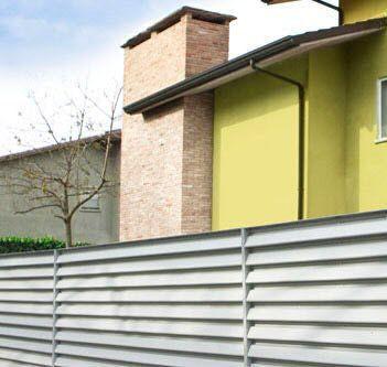 Sichtschutzzaun Garten Lamellen Aus Verzinktem Stahl Classic