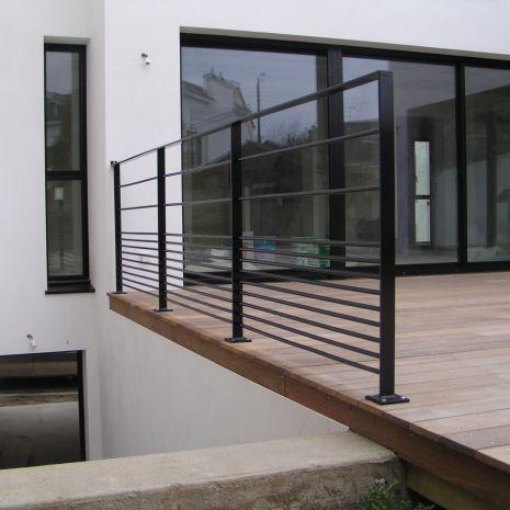 Metallgeländer / mit Stangen / Außenbereich / für Terrassen ...