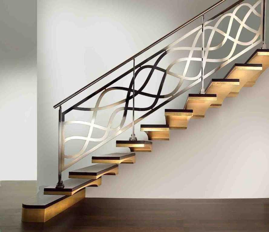 Gerade Treppe / Holzstufen / ohne Setzstufe / modern - LUXE ...
