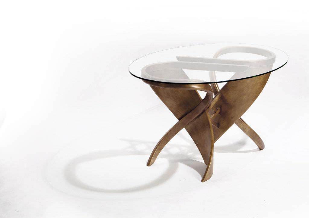 Design tisch glas rund  Esstisch / originelles Design / Holz / Glas / rund - VIRTUOS-S ...