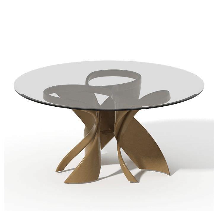 Esstisch glas rund  Moderner Esstisch / Glas / rund - VIRTUOS-K - Actual Design Studio