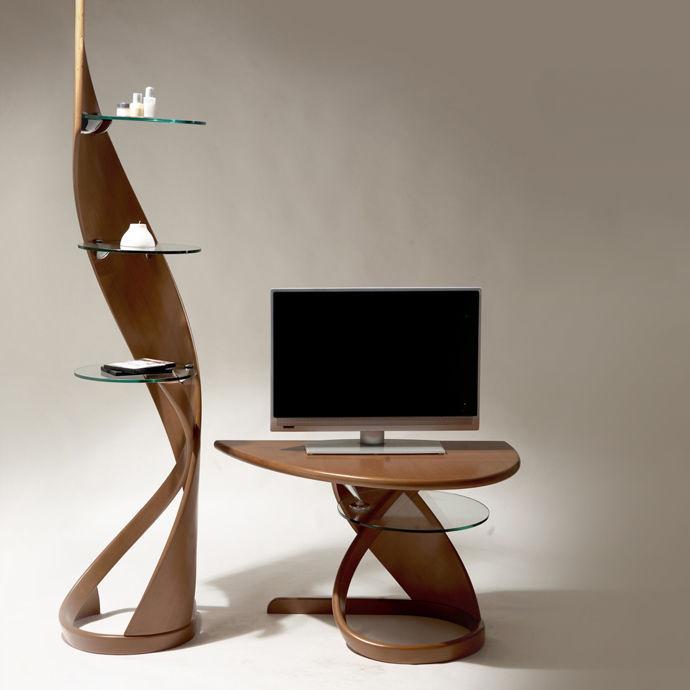 Modernes Regal / Holz / Vorderseite aus Glas - VIRTUOS : 123005 ...