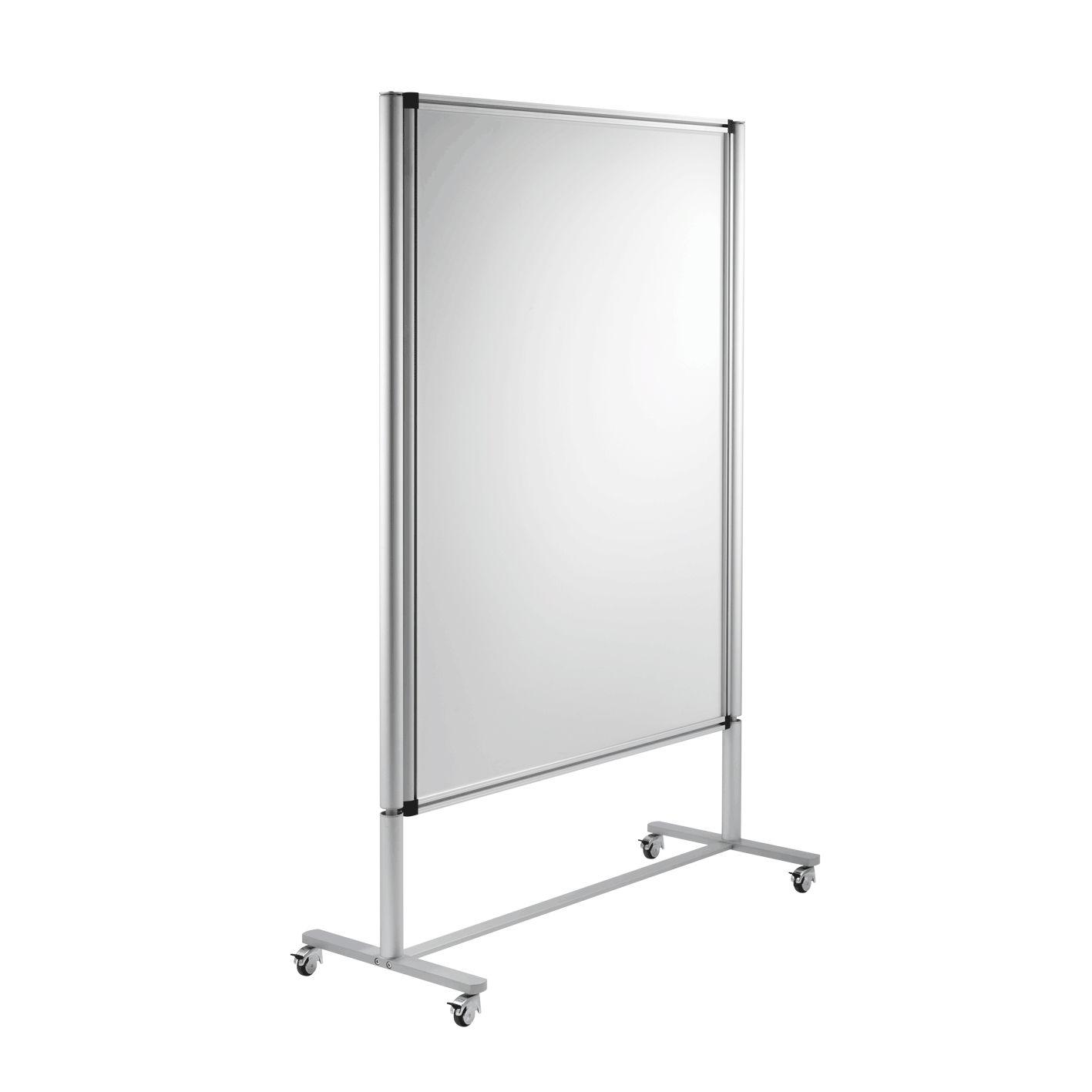 Transportierbare Trennwand / Metall / Glas / Drahtgeflecht ...