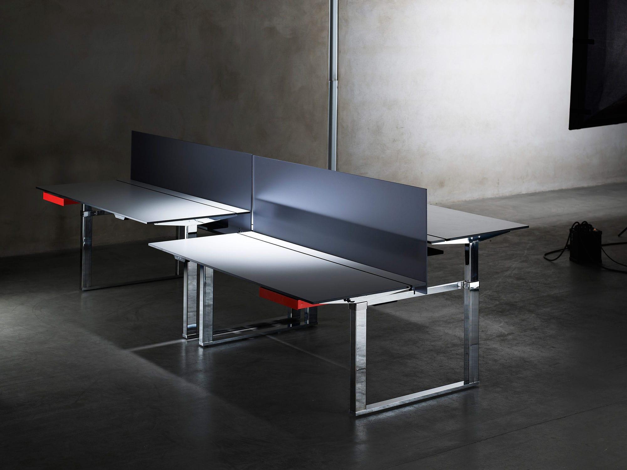 modern schreibtische fuer zu hause, schreibtisch für open space / aluminium / laminat / modern - r5, Design ideen