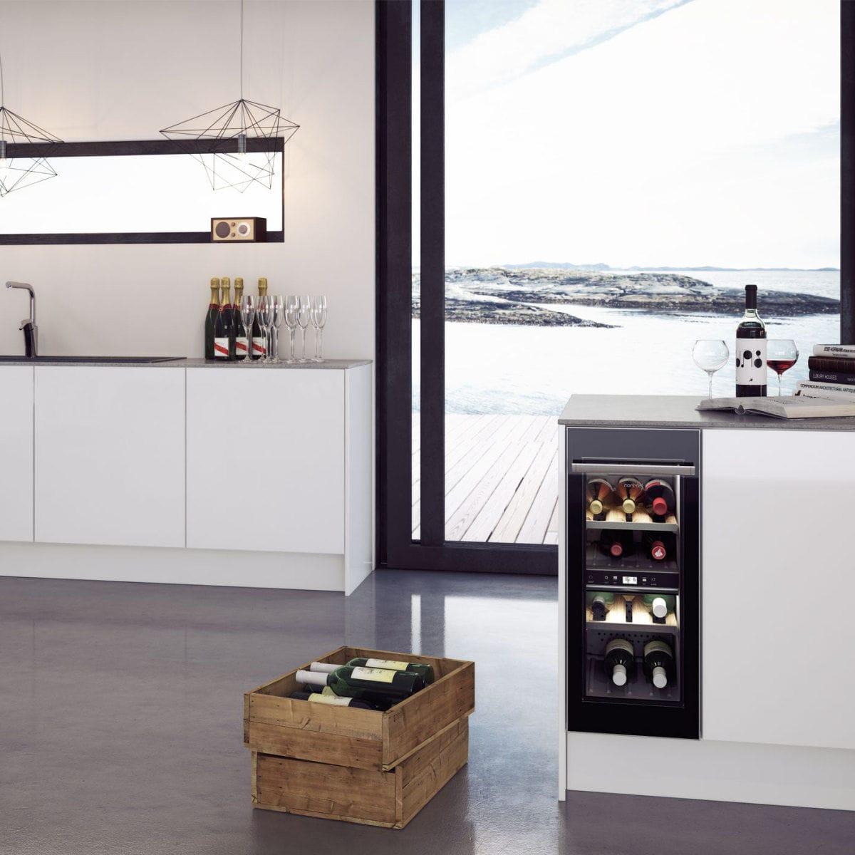 Weinkühlschrank für Privatgebrauch / Einbau / Unterbau / Aluminium ...