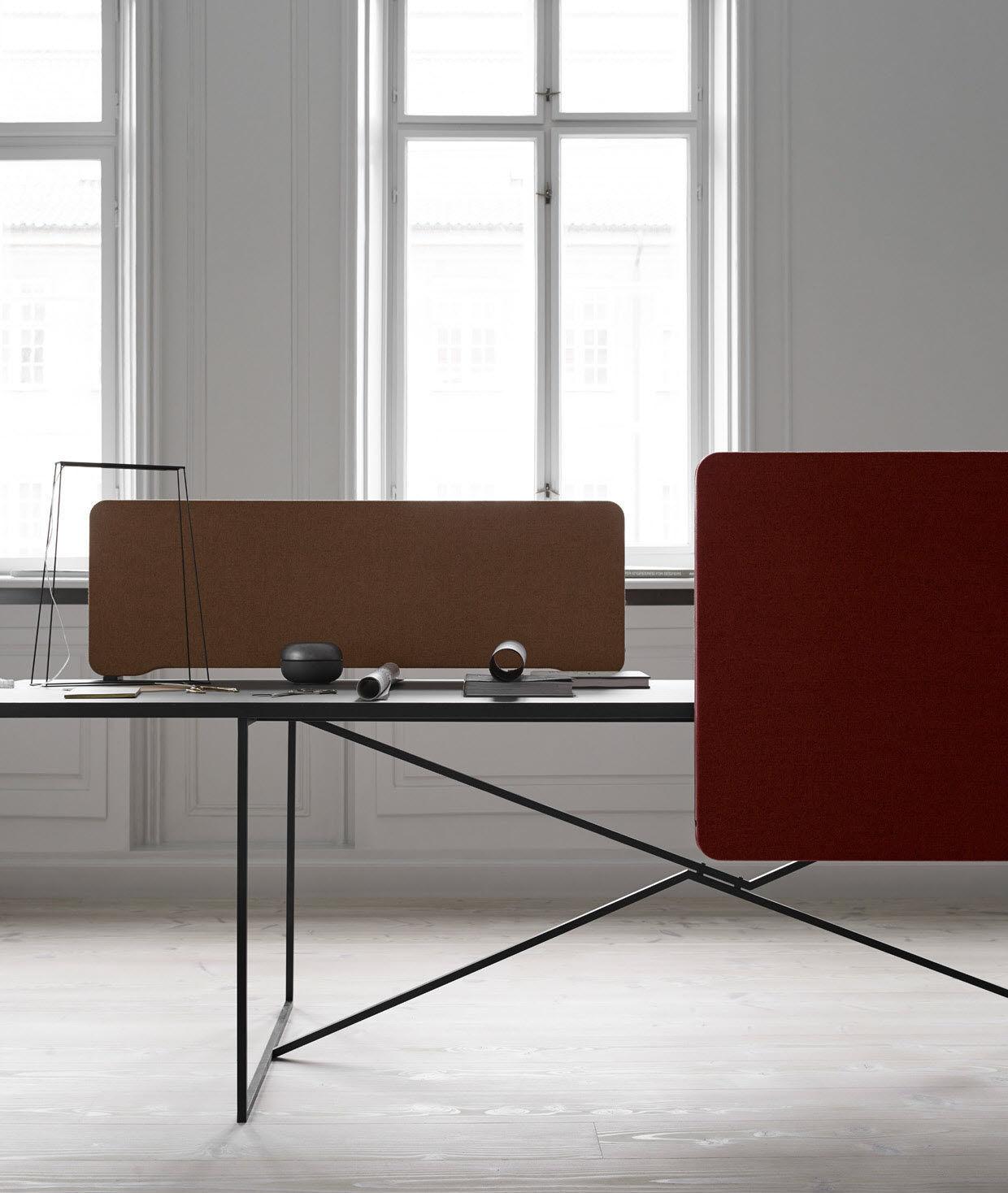 Bürotrennwand für Theken / Stoff / Holz - EDGE by Christian Halleröd ...