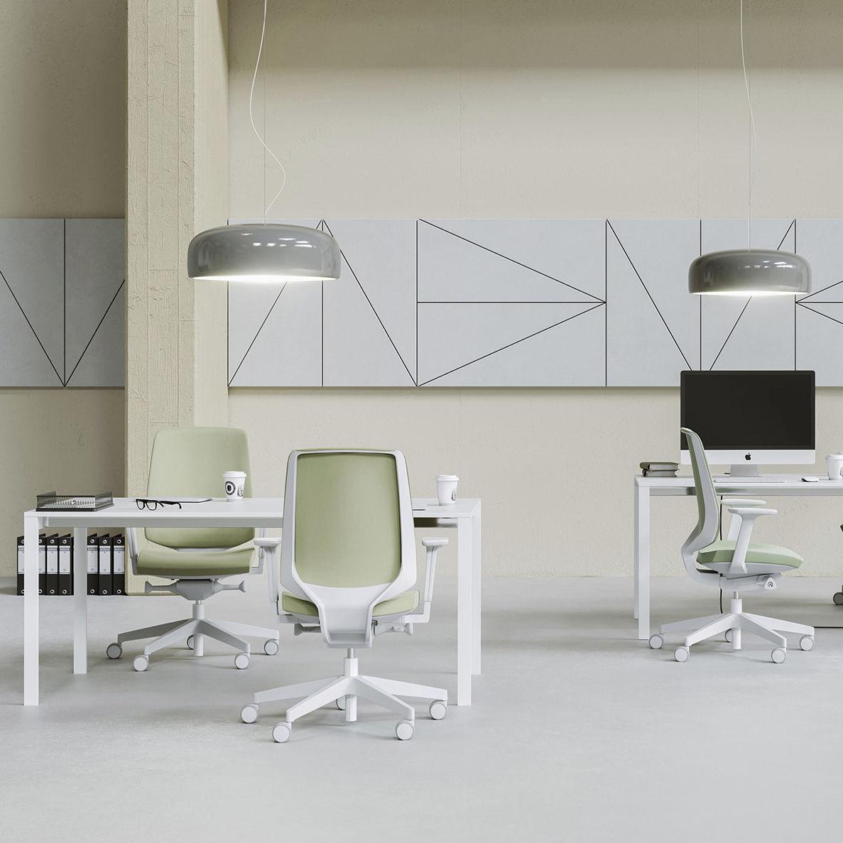 Moderner Sessel für Büro / Maschen / mit Rollen / sternförmiger Fuß ...