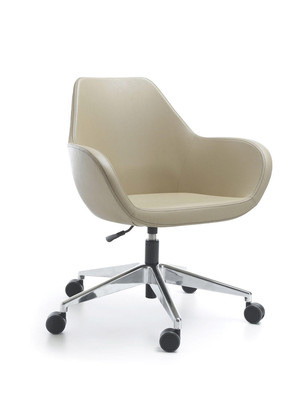 Drehsessel höhenverstellbar  Moderner Sessel für Büro / Stoff / Aluminium / höhenverstellbar ...