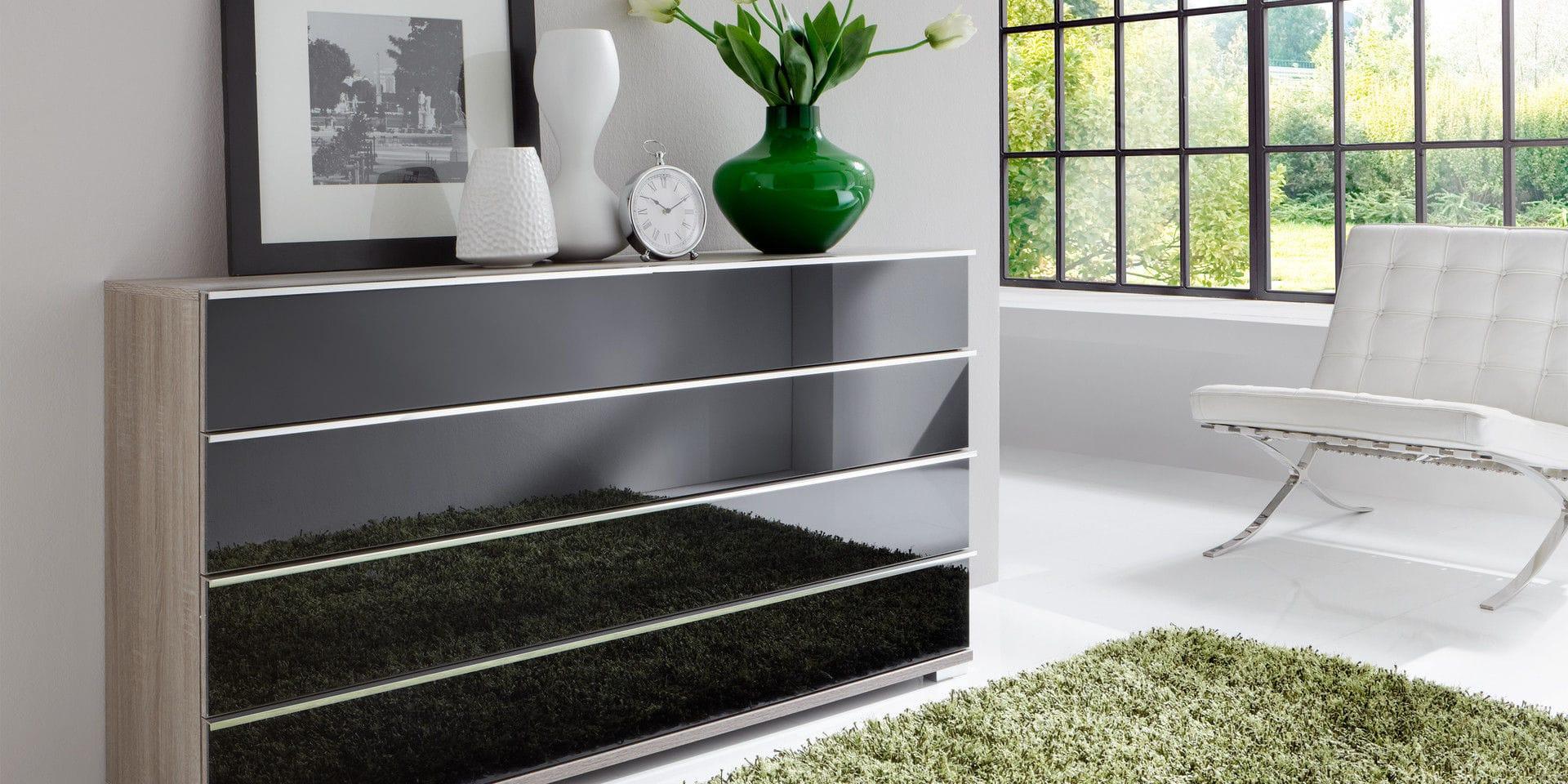 Kommode schwarz glas  Moderne Kommode / Glas / schwarz - LOFT - Wiemann