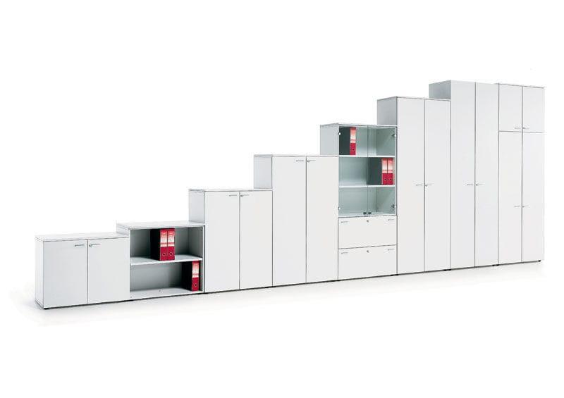 Aktenschrank holz niedrig  Niedriger Aktenschrank / Holz / Metall / mit Flügeltüren - 33-46 ...