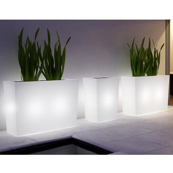 Polyethylen-Pflanzkübel / rechteckig / beleuchtet / modern - VERONA ...